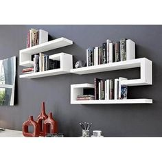 Creative Design Ideas for Wall Shelves - Home Decor Ideas - Shelves in Bedroom Bookshelf Design, Wall Shelves Design, Study Table Designs, Wall Shelf Decor, Contemporary Furniture, Floating Shelves, Diy Furniture, House Design, Interior Design