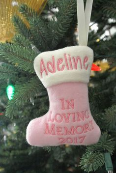 In Memory Christmas Ornament Puffy Stocking Christmas