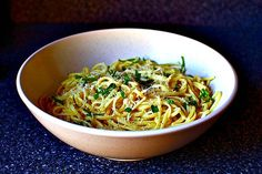 Spaghetti with Lemon and Olive Oil - #Spaghetti al Limone #Recipe
