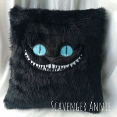 Alice in Wonderland Sinister Cheshire Cat Fur by scavengerannie Diy Pillows, Toss Pillows, Cushions, Accent Pillows, Gato Alice, Chesire Cat, Cheshire Cat Plush, Cat Merchandise, Cat Cushion