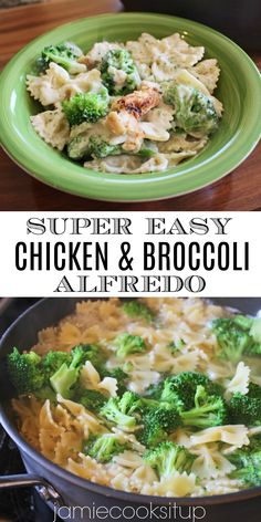 Chicken and Broccoli Alfredo minute dinner) from Jamie Cooks It Up! Broccoli Recipes, Pasta Recipes, Cooking Recipes, Chicken Recipes, Chicken Bacon, Crockpot Recipes, 30 Min Meals, 30 Minute Dinners, All You Need Is
