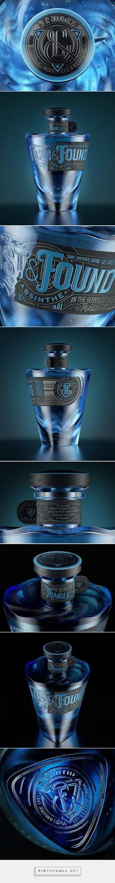Lost&Found #Absinthe #concept #packaging designed by Galya Akhmetzyanova & Pavla Chuykina - http://www.packagingoftheworld.com/2015/03/lost-concept.html