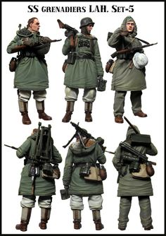 SS Grenadier MG 42 team in 1/35 scale resin from Evolution Miniatures