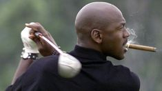 #mj #golf and his #cigar