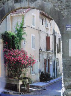 Saint-Rémy-de-Provence, le village typique de la Provence ! #arcade #pierres #bougainvilliers