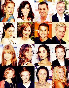 Buffy, Willow, Dander, Giles, Tara, Anya, Angel, Spike, Dawn, Cordelia, Faith, Oz, Joyce, Drusilla, Harmony
