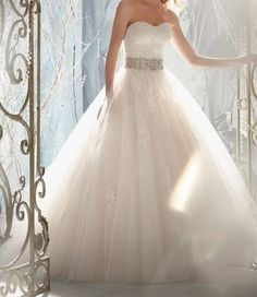New white/ivory wedding dress wedding Gown custom