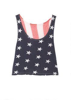 american flag crop tank.  My #TSL Dream Recruitment Closet