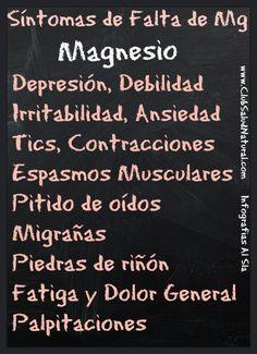 Señales de Falta de Magnesio – Club Salud Natural