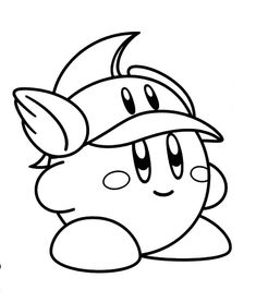 Dibujos gratis para colorear de kirby 4 moldes para for Cute kirby coloring pages