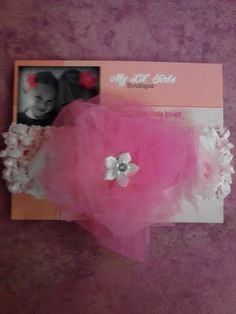Pink Flower Tulle on Pink Headband by MyLilGirlsBoutique on Etsy, $8.99