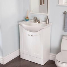 W Vanity In White With Euro Porcelain Top Ke24p2p Wh The Home Depot
