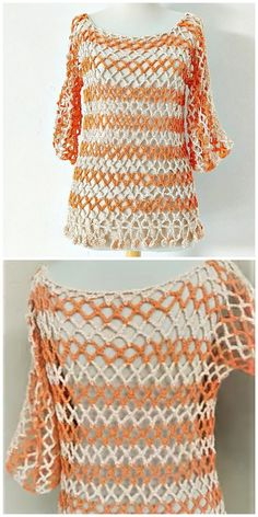 How To Crochet Fast And Easy Tunic - Crochet Ideas Crochet Jacket, Crochet Blouse, Crochet Shawl, Crochet Cross, Free Crochet, Knit Crochet, Crochet Diagram, Crochet Projects, Crochet Ideas