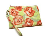 Gorgeous roses zippered iphone wristlet wallet by ItsSewYouDear