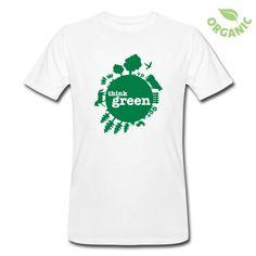 """Maglietta uomo personalizzata """"Think Green"""""""