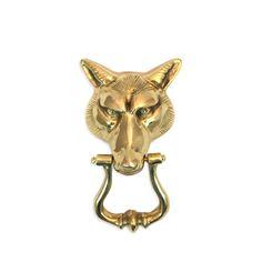 Vintage brass rabbit figurine gold bunny woodlands animals hollywood regency mid century - Wolf head door knocker ...