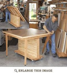 Work Bench, Table Saw Outfeed Support Woodworking Plan, Shop Project Plan | WOOD Store