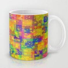 Small colorful squares  Mug by Robleedesigns - $15.00