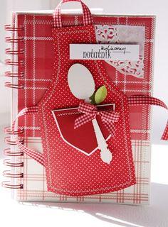 apron recipe book; no instructions