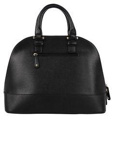 "Armitage Avenue Structured Satchel The Structured Satchel is a structured vegan leather satchel with front zipper pocket. Adjustable shoulder strap. Length: 19"" Height: 11-3/4"""