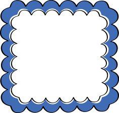 Blue Scalloped Frame
