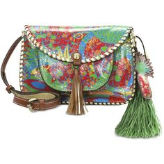 7e6da9052624 Patricia Nash Tropicana Summer Beaumont Small Flap Crossbody ( 189) ❤ liked  on Polyvore featuring bags