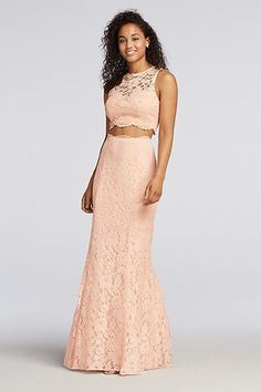 Lace Two Piece Prom