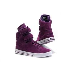 High Tops Supra TK Society White/Purple Suede Womens