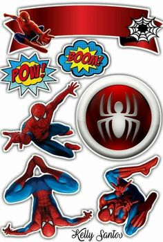 - Oh My Fiesta! for Geeks Spider Man Party, Bolo Super Man, Party Printables, Free Printables, Spiderman Cake Topper, Spiderman Movie, Bird Party, Happy Birthday, Birthday Parties