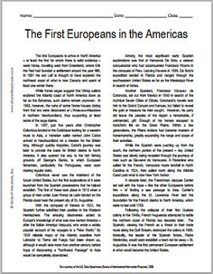 Printables Jamestown Worksheet heres a short reading on the jamestown colony and related first european explorers in americas free printable american history with questions