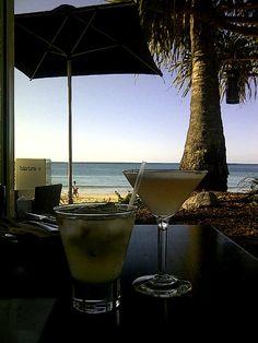 Bistro C cocktails on the beach