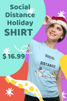 SOCIAL DISTANCING IS JUST EASY, CONVINCING PEOPLE TO WEAR A MASK... REMIND THEM WITH THIS FUNNY HOLIDAY SHIRT. - GREAT GIFT - $16.99 - IN STOCK NOW - CLICK LINK TO BUY SHIRT Buy Shirts, Branded T Shirts, Christmas Shirts, Christmas Holidays, Harry Potter Christmas, Things To Buy, Stuff To Buy, Shirt Sale, Great T Shirts
