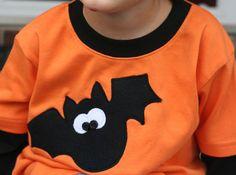 Halloween Shirt Applique Bat for Boys, so adorable!