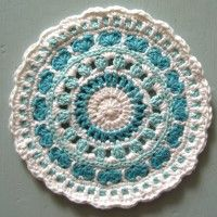 Crochet Mandala Wheel made by Meryl, USA, for yarndale.co.uk