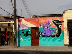 Street art in LIMA, PERU art from around the world as we are all one people Like street art ? https://www.etsy.com/shop/urbanNYCdesigns?ref=hdr_shop_menu