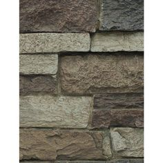 Rustic Lodge 8 in. x 8 in. x 3/4 in. Faux Mountain Ledge Stone Sample Stacked Stone Panels, Faux Stone Panels, Faux Panels, Faux Stone Siding, Stone Veneer Siding, Home Depot, Rock Backsplash, Manufactured Stone, Exterior Remodel