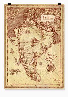 India Elephant Map