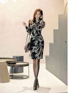 カシュクールワンピース ワンピース ワンピ レディース 長袖 膝丈 きれいめ 通勤 40代 50代 ファッション 2018 冬 新作 :ES-4429:JENNIE&ALICE - 通販 - Yahoo!ショッピング
