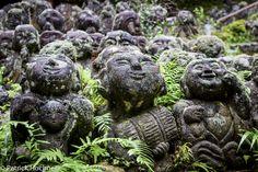 Rakans of Otagi Nembutsu Temple in Kyoto, Japan Best Cities, Asia Travel, Garden Sculpture, Temple, Outdoor Decor, Kyoto Japan, Buddhism, Photos, Pictures
