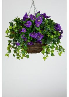 61 best outdoor silk flowers images on pinterest container plants how to make an artificial hanging basket mightylinksfo