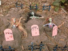 Barbie Zombie Graveyard  •  Decorate a Barbie doll in under 60 minutes