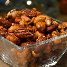 "Sweet, Salty, Spicy Party Nuts | ""These are amazingly delicious and so easy to make! I like them much better than the ones done on the stove top."""