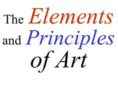 Elements And Principles of Art awesome slideshow