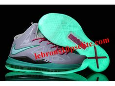Nike Zoom Lebron 10 Luminous Limited Edition Shoes Gray/Pink