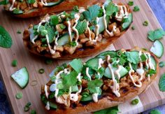 Open Faced Thai Style Chicken Sandwiches Perfect for Lunch