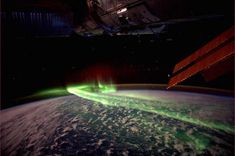 The Aurora Australis is seen in this handout picture taken by Dutch astronaut Andre Kuipers on board the International Space Station between Antarctica and Australia, March REUTERS-Andre Kuipers-ESA-NASA Earth And Space, Northern Lights From Space, Aurora Borealis From Space, Cool Pictures, Cool Photos, Amazing Photos, Crazy Photos, Interesting Photos, Unbelievable Pictures