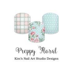 """Preppy Floral:  If you want to get these beauties of your fingers and toes, head on over to my Jamberry Nail Art Studio Marketplace!  Simply click on the image above and it will direct you right to the listing!  To see more of my designs and some special sales, join my Facebook group """"Kim's Nail Art Studio Designs"""" at www.facebook.com/groups/925106354278688 Thanks for the interest in my designs!"""