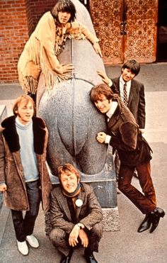 Neil Young and Buffalo Springfield pose for a photo in the 1960s.