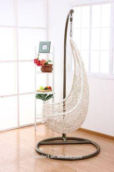 Outdoor single hanging swing rattan egg chair, modern popular cheap chair Rattan Egg Chair, Cheap Chairs, Outdoor Lounge Furniture, Hanging Chair, Balcony, Bohemian, China, Magic, Popular