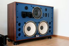 JBL speakers modified and restored by Kenrick Sound. He really does some amazing work here!